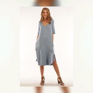 Tee dress in Dusty Blue
